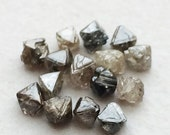 55% ON SALE Brown Rough Diamond Crystal, Raw Diamond, Uncut Diamond, Loose Diamond, Diamond Octahedron, 2-3mm, 2 CTS, 13-14 Pcs