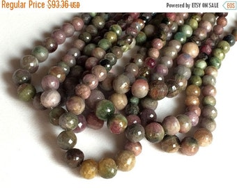 51% ON SALE Tourmaline - Multi Tourmaline Beads - Multi Tourmaline Faceted Round Beads, Tourmaline Necklace, 6-10mm, 9 Inch Strand, 33 Piece