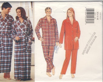 Butterick 4605 Unisex Robe, Belt, Top and Pants Multi Size Pattern XSmall - Small - Medium
