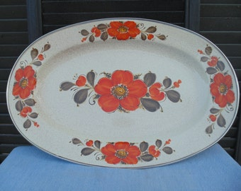 Show stopper Show pans in vintage orange poppy style