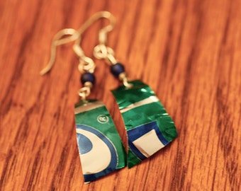 Recycled Can Earrings, Recycled Earrings, Upcycled Jewelry, Ecofriendly Jewelry, Green Gift