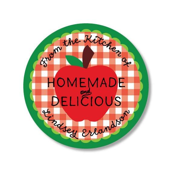 Apple Sticker - Applesauce Sticker - Canning Sticker - Canning Jar Label - Kitchen Sticker - Jam Sticker - Jam Label - Mason Jar Sticker