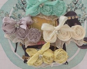 Easter silk bow clips