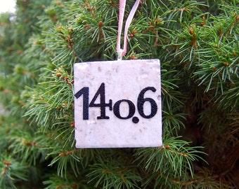 Triathlon 140.6 Ornament Ironman Mixed Fonts