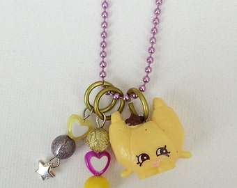 Shopkin Charm Necklace Croissant d'Or Season 3
