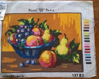 Vintage Tapestry Canvas - Still Life Fruit - by Royal Paris