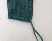 Ready to Ship~ Vintage Green 12-24 month Handknit Baby/Toddler Bonnet