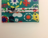 Casino Print Fabric Pocket Tissue Holder Gift Idea Novelty