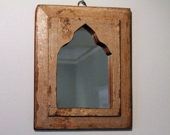 Mirror Reclaimed Vintage Indian Door Panel Wall Hanging Art Distressed Mirror Moroccan Decor Turkish
