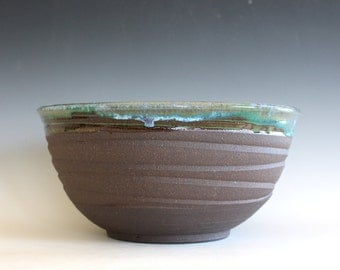 Handmade Ceramic Bowl, pottery bowl, hand thrown stoneware bowl, ceramic serving bowl