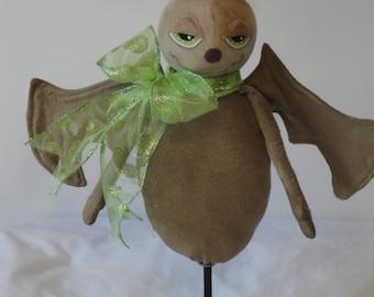 Halloween primitive bat made from cloth decorative standing bat doll