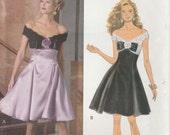 Cocktail Dress Pattern  Off Shoulder Boned and Lined Formal Bridal Prom Uncut Size 6 - 10  Butterick 6152