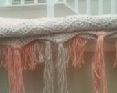 Chervon baby blanket. Cotton made