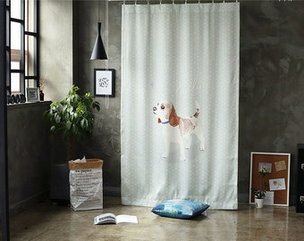 Polka dot Dog Black Out Wide Fabric for Curtains one sheet (59 inches x 94 inches) 76419