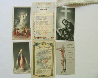 Vintage Holy Cards Prayer Cards Catholic Religious Italy Mary Conception Jesus Resurrection Crucificion Angel Mass In Memory Prayer Book Art