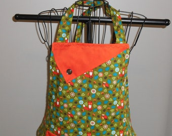 Foxes and Owls Women's Apron
