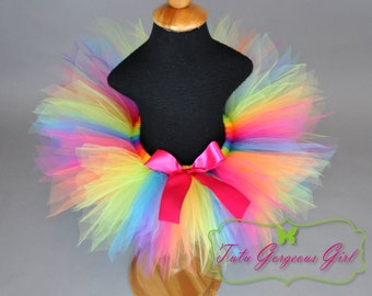 Girls Candyland Rainbow Birthday Tutu...Cake Smash Tutu, First Birthday Tutu . . . CANDYLAND