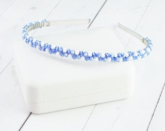 Gifts Under 35 - Blue Crystal Headband - Winter Snow Headband - Party Headband - Gifts for Women - Unique Gifts for Teens - Christmas Gifts