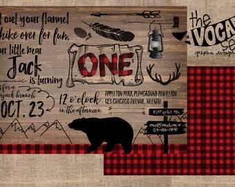 Lumberjack Birthday (or any event) Invitation - DIY Printing OR Professional Printing