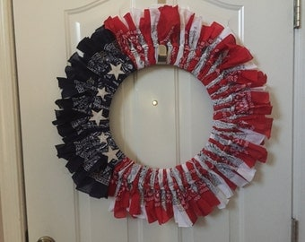 Patriotic Holiday Wreath