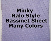 Halo Bassinet Style Sheet, Minky Halo Bassinet Sheet, Baby Girl, Baby Boy, Custom Baby Bedding, Your Choice Solid Color, Elastic All Around