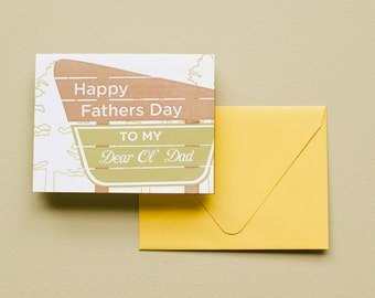 Letterpress Card - Dear Ol' Dad