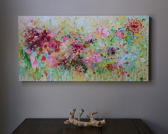 abstract  flower painting,painting on canvas,abstract art,modern,Fine Art Acrylic painting,flower painting,multi color, colorful