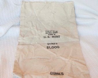 U.S. Mint Dime Bag - Bank bag -cotton, canvas
