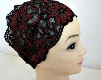 Black & Copper Lace Headband,Turban,Turband, Hair Wrap, Lace Hairband,Adult  Fashion Turban,Gift Ideas For Her,Women Fashion Accessories