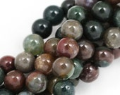 MOVING SALE Fancy Jasper Beads - 8mm Round - Full Strand