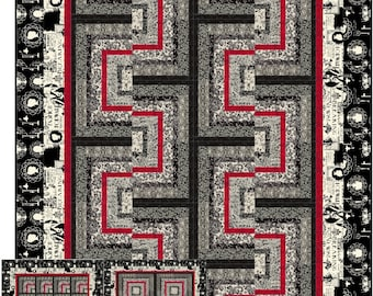 Stacked Boxes Quilt ePattern, 4941-0, lap quilt pattern, log cabin quilt pattern, lap quilt