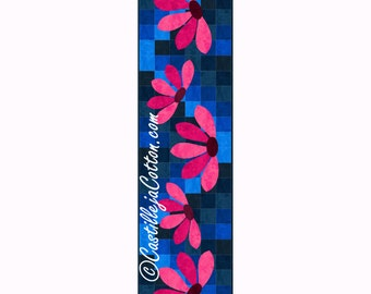 Blooming Table Runner Quilt ePattern, 4625-4, Table Runner quilt pattern, flower table runner