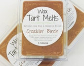 SOY Wax Tart Melt - Cracklin' Birch, 3 oz, Beeswax, natural, fragrance, candle, melts, home, house, gift