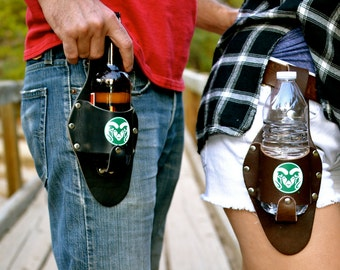 Leather Beer Holster, Colorado State University, Color Logo