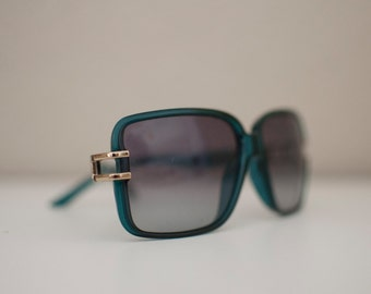 vintage christian dior green frame womens sunglasses