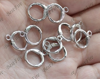 12 pcs of Platinum tone brass earwire finding,earrings findings,Fishhook Earring Findings