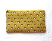 Sleepy Hedgehogs in Love Zipper Pouch / Pencil Case / Make Up Bag