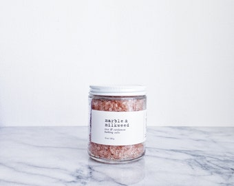 Rose & Cardamom Bathing Salts - himalayan pink salt, organic coconut and sesame oils