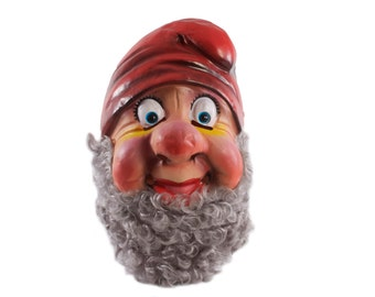 HAPPY Mask - Full Head - Snow White and the Seven Dwarfs - Gnome - Halloween Fun