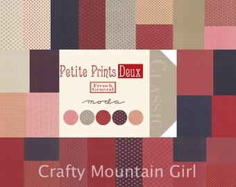 Petite Prints Deux Fat Quarter Bundle by French General for Moda