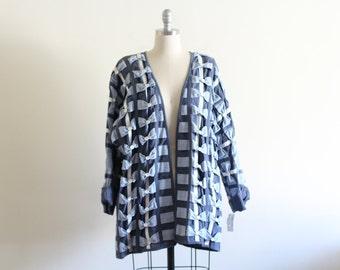 Vintage Yak Magik Abstract Cotton Jacket / Free Size / Batwing Sleeves
