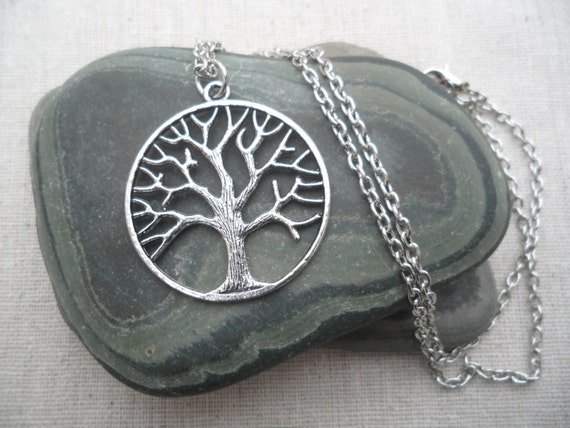 Silver tree necklace tree of life silver necklace tree jewelry like this item aloadofball Choice Image