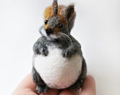 Fat squirrel, needle felted squirrel