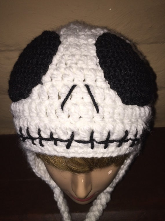 Crochet Pattern For Jack Skellington Hat : Jack Skellington Crochet Hat Beanie by thebluemagnolia on Etsy