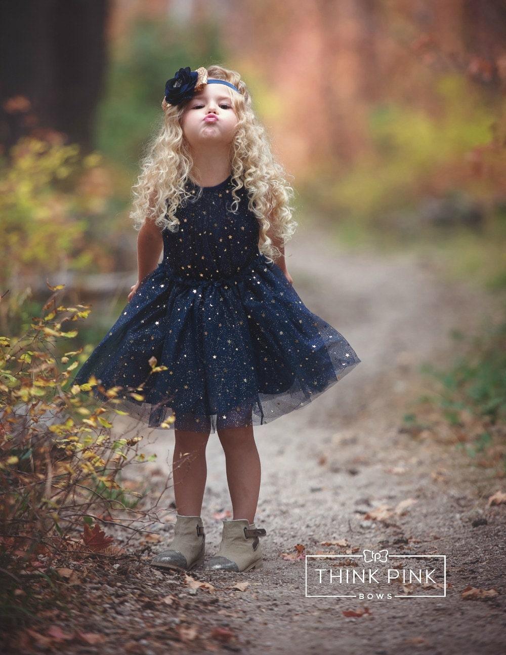 Blue christmas dress 4t - Navy Blue Flower Girl Dress Navy Tulle Flower Girl Dress Birthday Dress Christmas