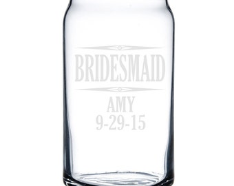 Personalized Beer Can Glass 16 oz. - 8794 Bridesmaid Personalized