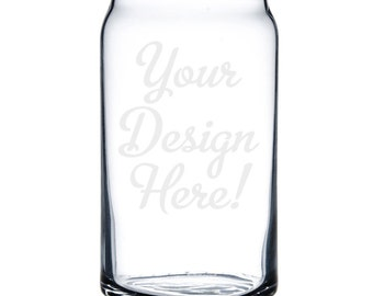 Customized Beer Can Glass 16 oz. - 8838 Your Design Here!