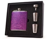 Purple Swirls Flask for Women