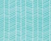 True Colors - Herringbone in Aqua - PWTC007 - JOEL DEWBERRY - Free Spirit Fabric - By the Yard