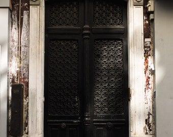 Parisian Door With Sunlight